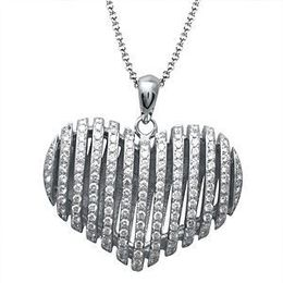 Dazzling Simon G. Diamond Heart Pendant