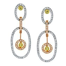 Simon G. Tri-tone Diamond Earrings