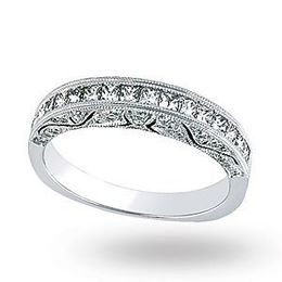 Exquisite Simon G. Diamond Wedding Band