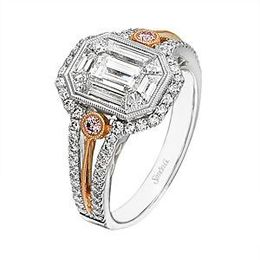 Elegant Mosaic Diamond Ring by Simon G.