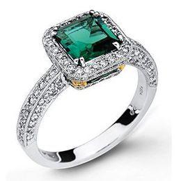 Green Tourmaline and Diamond Ring by Simon G.