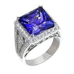 Simon G Tanzanite and Diamond Ring