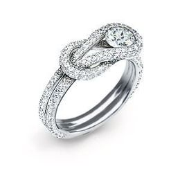 Everlon .57 Carat Diamond Knot Ring 14Kt White Gold