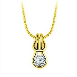 Everlon 1/2 Ct. Diamond Knot Necklace 14K Yellow Gold
