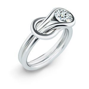 Classic Everlon 1/4 Ct. Knot Ring in Sterling Silver