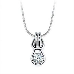 14k White Gold Everlon 1/3 Ct. Diamond Knot Pendant
