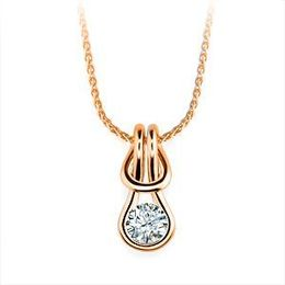Alluring Everlon 3/4 Ct. Knot Necklace 14k Rose Gold