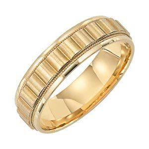 Handsome 14 Kt Gold Lieberfarb Wedding Band