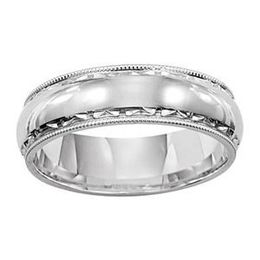Fabulous White Gold Lieberfarb Wedding Band