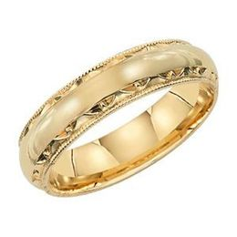 Lieberfarb 14kt Yellow Gold Wedding Band