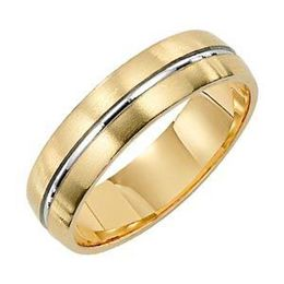 Lieberfarb Two-Toned Gold Wedding Band