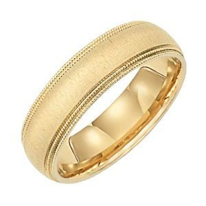 Classic Lieberfarb Solid Gold Wedding Band