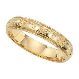 Lieberfarb Wedding Band with Butterfly Design