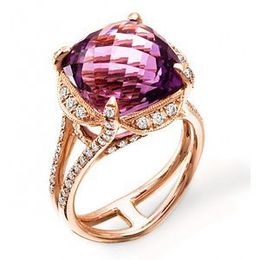 Dazzling Zeghani Amethyst and Diamond Ring