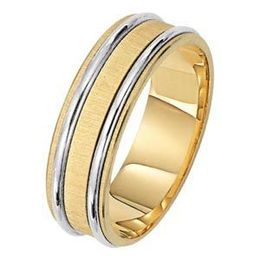 Gorgeous Lieberfarb Two-Tone Gold Wedding Band