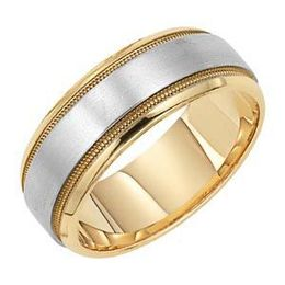 Classic Style Lieberfarb Two-Tone Gold Wedding Band