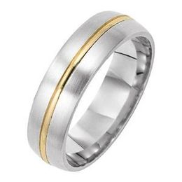 Modern Two-Tone Gold Lieberfarb Wedding Band