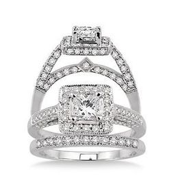 Lovely 1.25 Carat Complete Diamond Wedding Set