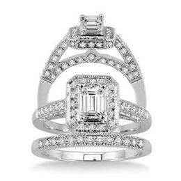 1.25 Ct. Diamond Wedding Band and Engagement Set
