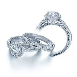 Lovely Verragio Venetian Collection Engagement Ring
