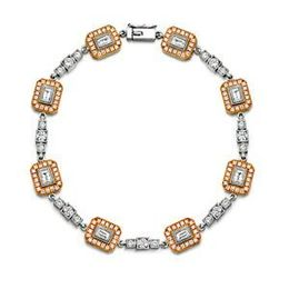 Simon G 18K White and Rose Gold Diamond Bracelet