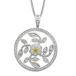 Simon G Diamond Flower Circle Pendant