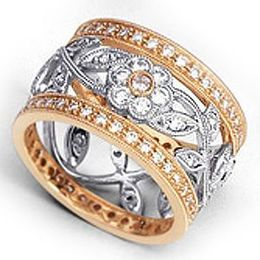 Two Tone Diamond Fashion Ring by Simon G