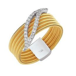 Two Tone Simon G Diamond Fashion Ring