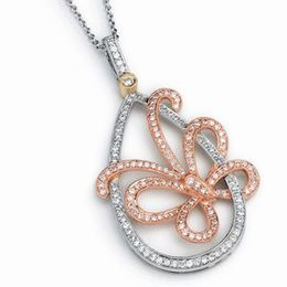 Simon G. Diamond Butterfly Pendant