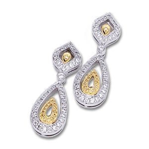 Diamond Drop Earrings by Simon G