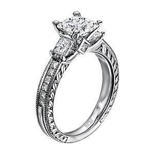 Scott Kay Crown Setting Diamond Engagement Ring