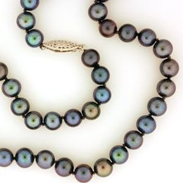 Cultured Black Pearl Strand (18in)