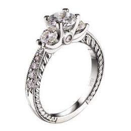 Designer Scott Kay Crown Setting Diamond Ring