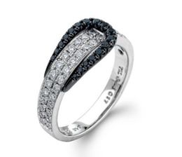 Diamond Buckle Ring by Simon G.