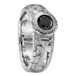 Scott Kay Black Diamond Mens Wedding Band BC Collection