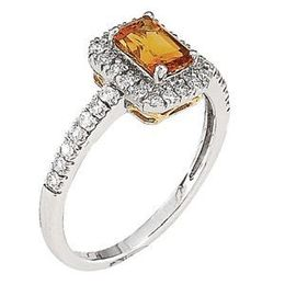 Charming Citrine Diamond Ring