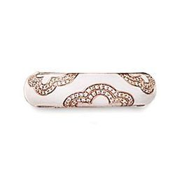 Hidalgo White Enamel Designer Fashion Ring