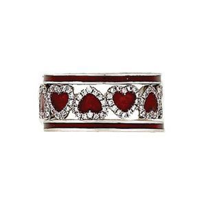 Hidalgo Designer Heart Pattern Ring