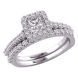 Spectacular Princess Cut Diamond Bridal Set