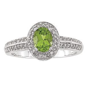 Delightful Peridot Diamond Ring