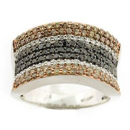 Dazzling Brown and Black Diamond Ring