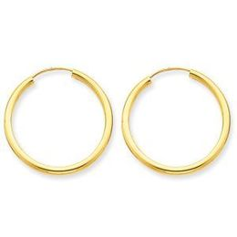 Alluring 14k Yellow Gold Endless Hoop Earrings