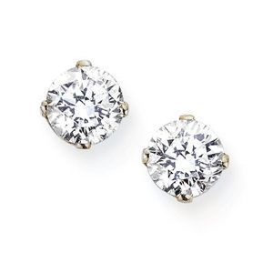 Stylish Diamond Stud Earrings in White Gold