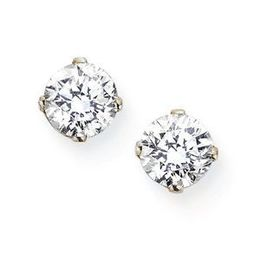 1/3 Carat Round Cut Diamond Stud Earrings 14k WG