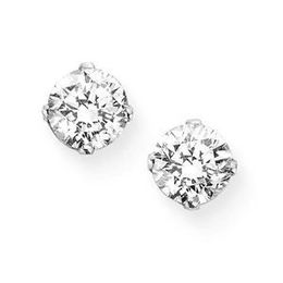 1/2 Carat Diamond Stud Earrings in 14k White Gold