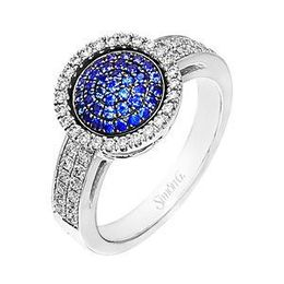 Simon G Sapphire and Diamond Fashion Flip Ring