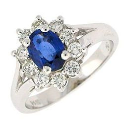Sapphire and Diamond Kate Middleton Style Ring