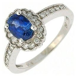 Elegant Kate Middleton Style Sapphire and Diamond Ring
