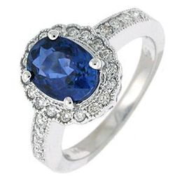 Lovely Sapphire and Diamond Princess Diana Style Ring