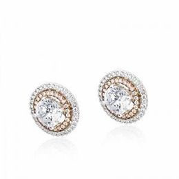 Simon G. Two Tone Diamond Earrings
